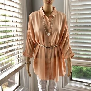 Tops - Beautiful Soft Blush Flowy Tunic - NEW!